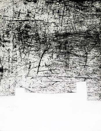 Etching And Aquatint Chillida - Une helene de vent ou fumee II