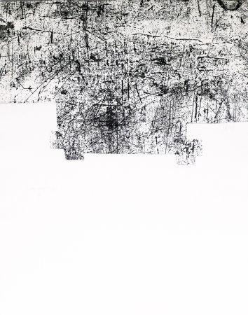 Etching Chillida - Une helene de vent ou fumee III
