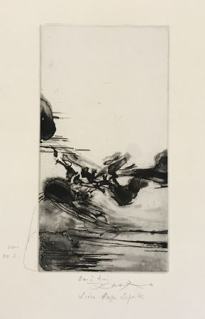 Etching And Aquatint Zao - Une Migration (250)