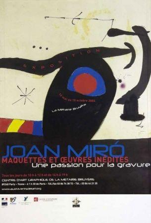 Poster Miró - Une passion pour la gravure