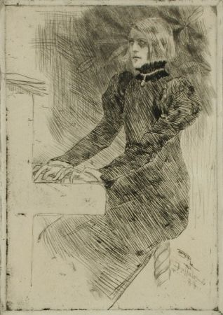 Etching Rops - Une pianiste shaker / A Shaker Pianist