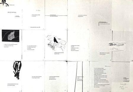 Screenprint Buraglio - Une suite verticale