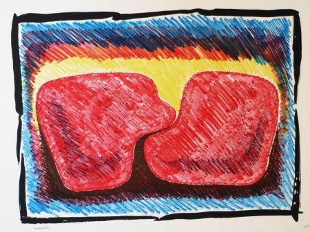 Lithograph Serrano - Unidad en rojo