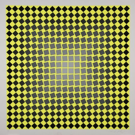 Screenprint Vasarely - Unitled