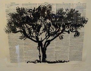 Linocut Kentridge - Universal Archive Tree D
