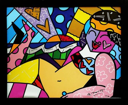Screenprint Britto - UNKNOWN (BEACH)