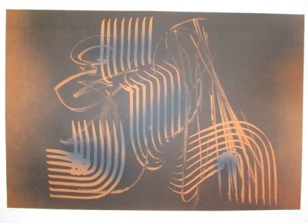 Lithograph Hartung - UNTITLE