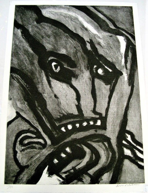 Etching And Aquatint Lindstrom - Untitled