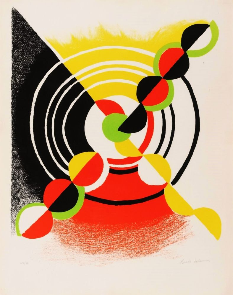 Lithograph Delaunay - Untitled