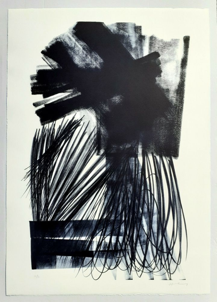 Lithograph Hartung - UNTITLED