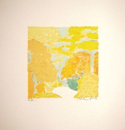 Lithograph Muhl - Untitled