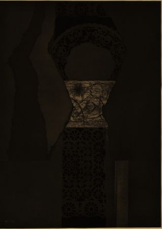 Etching And Aquatint Nevelson - Untitled