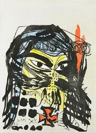 Lithograph Meese - Untitled
