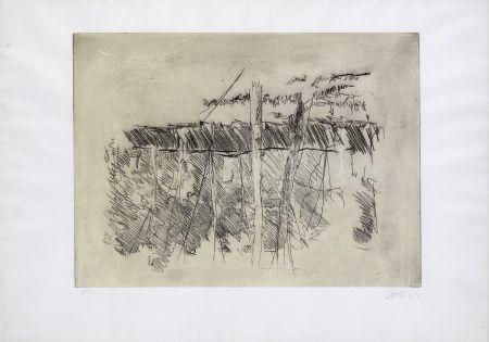 Engraving Baselitz - Untitled