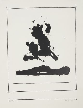 Lithograph Motherwell - Untitled