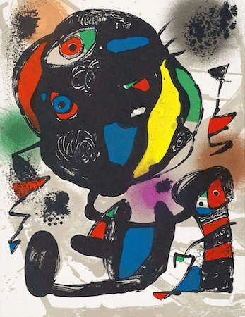 Lithograph Miró - Untitled