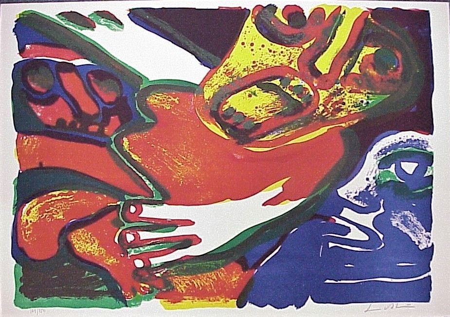 Lithograph Lindstrom - Untitled