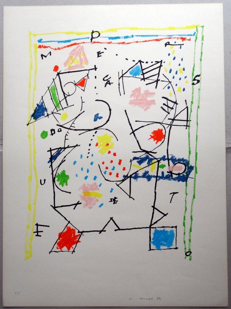 Lithograph Mompó - Untitled