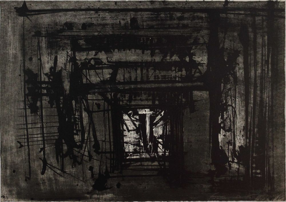 Lithograph Scanavino - Untitled