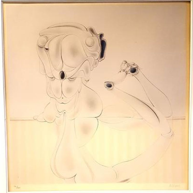 Lithograph Bellmer - Untitled