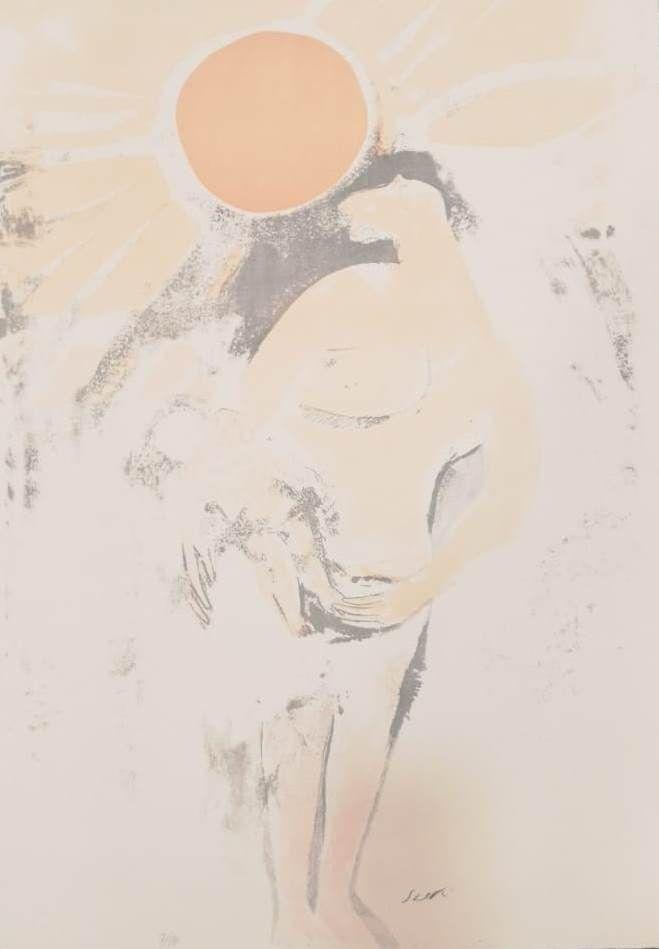 Lithograph Saetti - UNTITLED