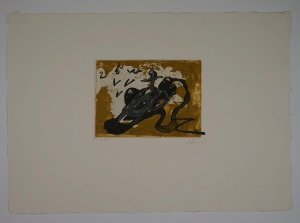 Engraving Tàpies - Untitled