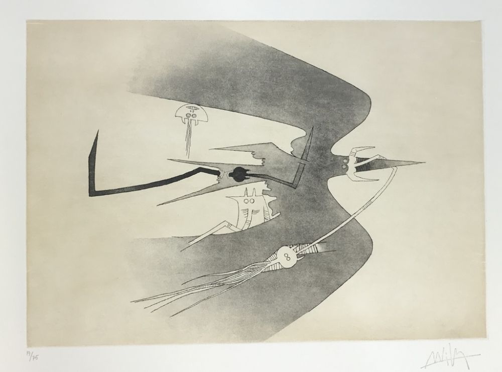 Etching And Aquatint Lam - Untitled