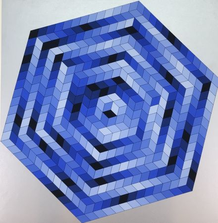 Lithograph Vasarely - Untitled
