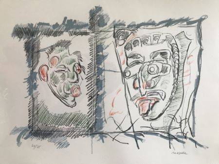 Lithograph Riopelle - Untitled
