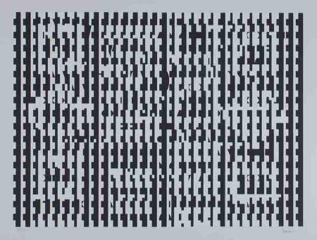 Screenprint Agam - Untitled