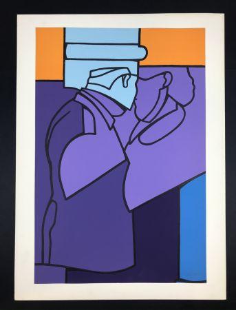 Lithograph Adami - Untitled