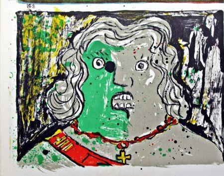 Lithograph Baj - Untitled