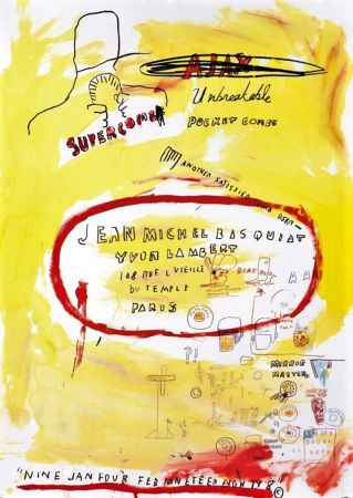 Lithograph Basquiat - Untitled