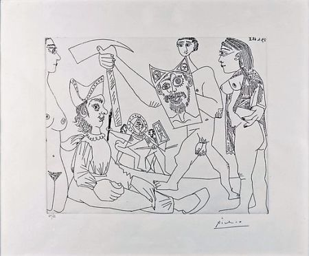 Engraving Picasso - UNTITLED
