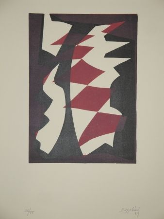 Woodcut Bozzolini - Untitled