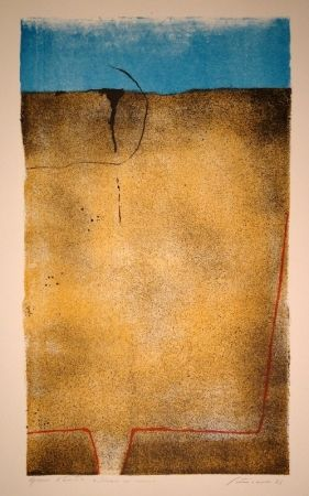 Lithograph Santomaso - Untitled