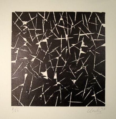 Woodcut Uecker - Untitled