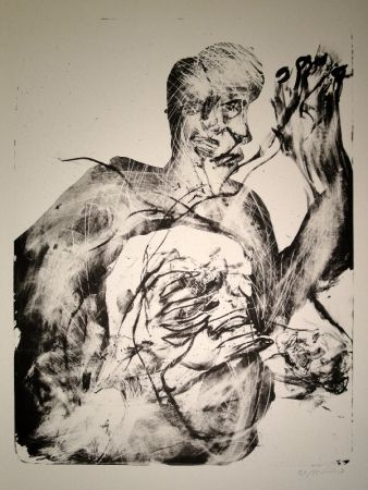Lithograph Disler - Untitled