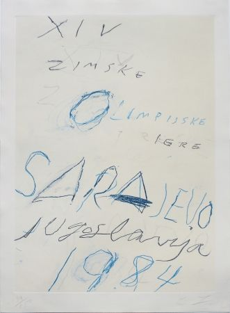 Lithograph Twombly - Untitled