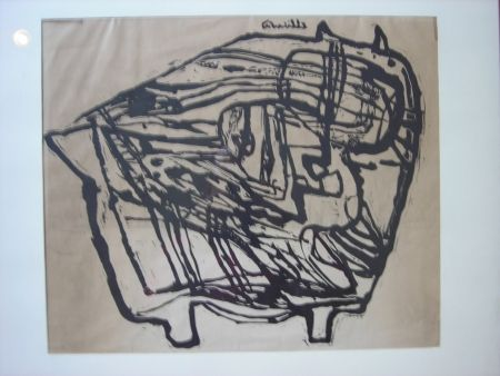 Lithograph Corneille - Untitled