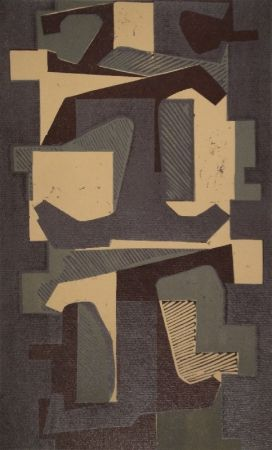 Linocut Deyrolle - Untitled