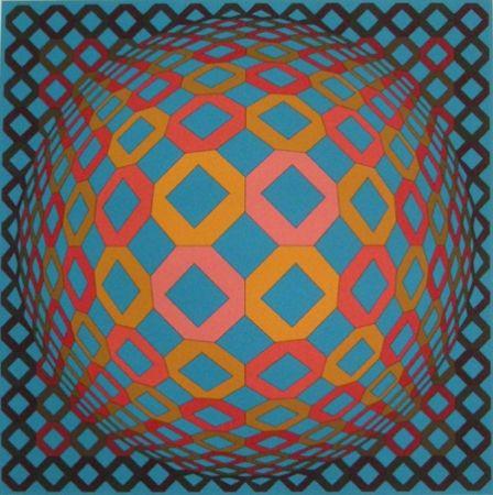 Screenprint Vasarely - Untitled