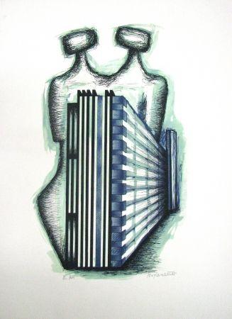 Lithograph Boyan - Untitled