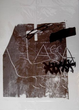 Lithograph Tàpies - Untitled