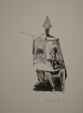 Lithograph Chadwick - Untitled