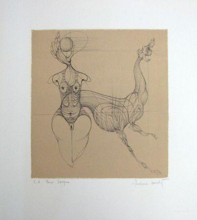 Lithograph Bouché - Untitled
