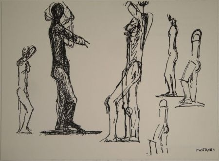 Lithograph Wotruba - Untitled