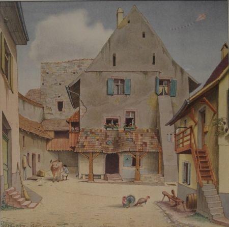 Lithograph Stöcklin - Untitled