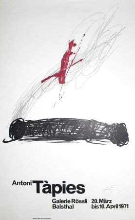 Lithograph Tapies - Untitled