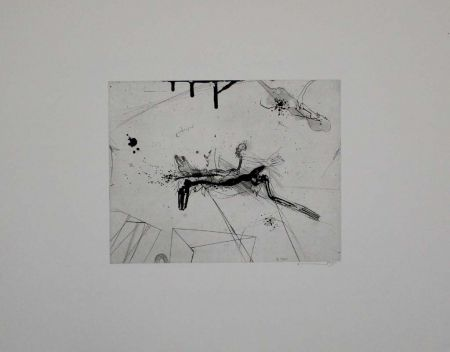Etching And Aquatint Sandig - Untitled